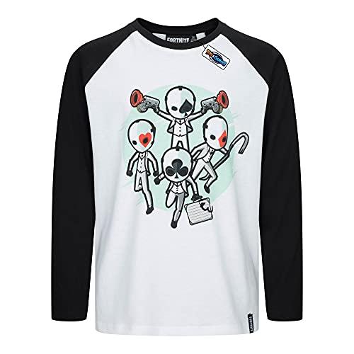 Fortnite - Camiseta para niño de manga larga de High Stakes FORT-3-763C (12 años - 152 cm)