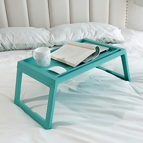 Mesa Ordenador Portatil Bandeja de desayuno bandeja de la cama Mesa con patas plegables, escritorio del ordenador portátil bandeja bocado for comer Lectura Escritorio del Regazo ( Color : Blue )