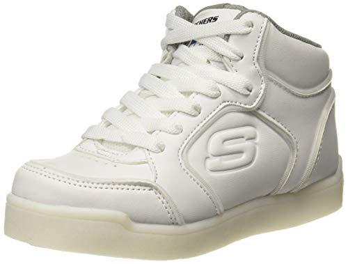 Skechers Unisex-Kinder Energy Lights Hohe Sneaker, Weiß (White 90622l-Wht), 34 EU