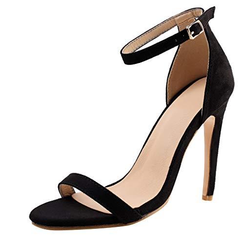 Gusspower Sandalias de Tacón Alto para Mujer Sandalias Stilettos con Hebilla Zapatos de Vestir Verano 11cm Sexy Tacón de Aguja Zapatos Fiesta Elegante Sandalias de Noche Peep Toe de Punta Abierta