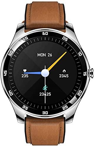 1.3 pulgadas pantalla táctil completa impermeable reloj inteligente hombres fitness paso contador, negocio multifuncional y ocio reloj-plata