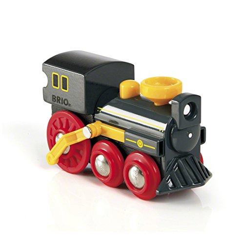 Brio World - 33617 - Grande Locomotive à vapeur - Pour circuit de train en bois - Action de jeu sans pile - Thème Far West - Jouet pour garçons et filles dès 3 ans