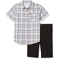 Calvin Klein Boys' 2 Pieces Shirt Shorts Set