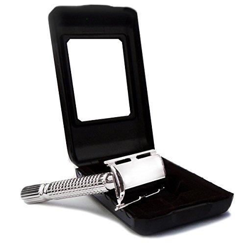 Baili ® Silver Plated Double Edge Razor Safety razor Fits All Double Edge Razor Blades Gift for Him