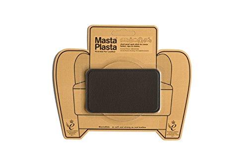 MastaPlasta Leder-Reparaturflicken, selbstklebend, Dunkelbraun Wählen Sie Größe/Design. Erste Hilfe für Sofas, Autositze, Handtaschen, Jacken usw.