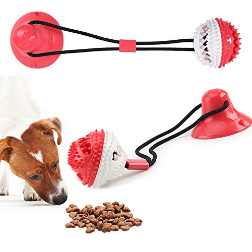 Product Image 2: Suction Cup Dog Chew Toys for Aggressive Chewers. Interactive Rope Tug Toy with Food Dispensing Ball.