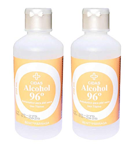 Envio 24h 2 x Alcohol 96º Antiseptico para piel sana 250ml
