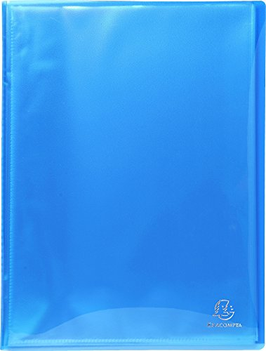 Exacompta 85270e Porte vues Idérama couverture polypro brillante et pochettes interieures lisse haute transparence 60 pochettes et 120 vues couleur bleu vert jaune noir orange rose rouge violet