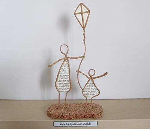 Drahtfiguren mit Drachen, als Geschenk, z.B. für Geburtstag, oder als Dekoration, ca. 20 cm