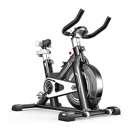 Bicicleta Spinning Profesional,Indoor Cycling Electromagnético Aplicación Inteligente,Resistencia Variable Bicicleta Estatica Ejercicio Aerobico Con Pedal Antideslizante Capacidad de Carga 200KG,Black