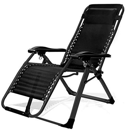 IJNBHU Lounge Chair Cushions,Outdoor Reclining Zero Gravity Chair,Folding Gravity Sun Lounger Deck Chair Rocking Recliner Garden Bed Reclining Chair Adjustable Lounger Chair,load 200kgB