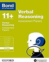 Bond 11+: Verbal Reasoning: Assessment Papers: 6-7 Years by J. M. Bond (2015-03-05)