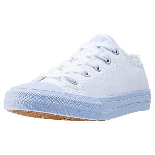 adidas Unisex-Kinder Chuck Taylor All Star II OX Basketballschuhe, Weiß (Whiteporpoise Whiteporpoise), 32 EU