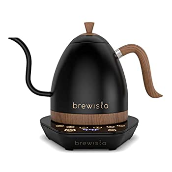 Brewista | Artisan 1.0L Electric Gooseneck Kettle | Electric Water Kettle For Pour Over Coffee  Matte Black