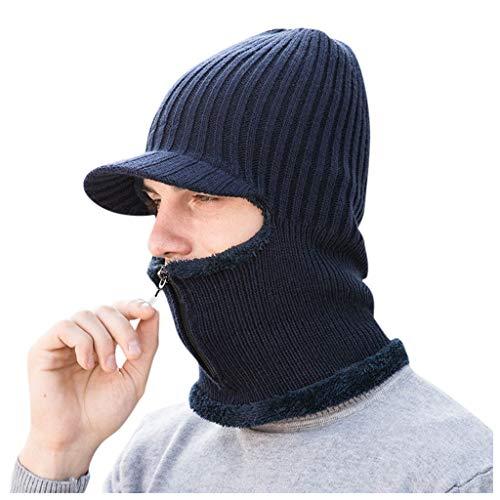 MOVERV-Gorra Cuello Calentador para Invierno y Gorro con Calentito para Invierno Pasamontañas para Hombre y Mujeres