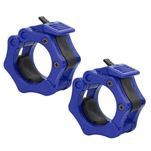 Shipenophy 2pcs Mancuerna de bloqueo de la abrazadera de plástico para el levantamiento de pesas (azul)