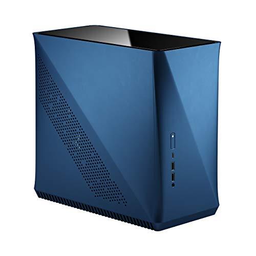 Fractal Design Era ITX Cobalt – Tempered Glass Top Panel – Mini-ITX Computer Case – Small Form Factor – Water-Cooling Ready – USB Type-C - Aluminium