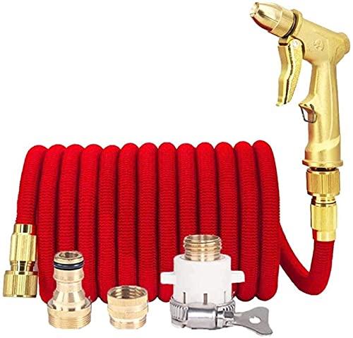 Macro Garden Manguera Spray Pistol Set, 25 pies expandibles y Ajustables, Manguera de riego retráctil, Boquilla de Lavado de Autos de Alta presión, 4 Funciones