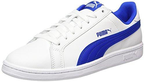 PUMA Smash Fun L Jr, Sneaker, Weiß (White-Lapis Blue), 35.5 EU (3 UK)