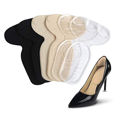 COSYINSOFA 3 Pairs Fersenkisseneinsätze, Fersengriffe und Schuhunterlagen für Schuhe zu groß,Fersenkisseneinsätze Griffe Einlagen Mix Komfortable Protektoren für Frauen