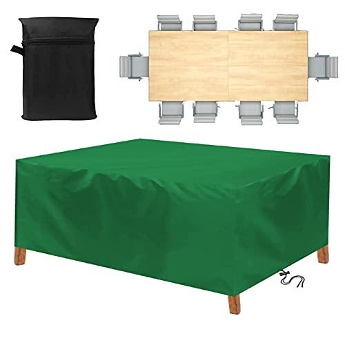 Funda para Muebles de Jardín,130x110x85cm Copertura Impermeable para Mesas Rectangular,420D Oxford Funda Protectoras Muebles Jardin,Funda Muebles Exterior,Resistente a los Rayos UV