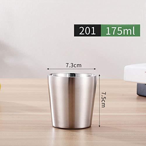 Lasisz bekers en kopjes van roestvrij staal, dubbelwandig, 175/260/300/480 ml bierglas koud metaal bar party koffiekopje glas