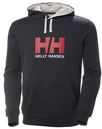 Helly Hansen Logo Hoodie Sudadera para hombre con capucha, sudadera casual de algodón para uso diario y actividades al aire libre