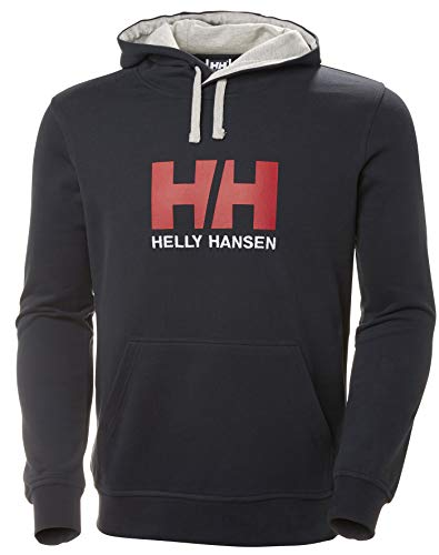 Helly Hansen Herren Hh Logo Hoodie Kapuzenpullover, Blau (Navy), Large