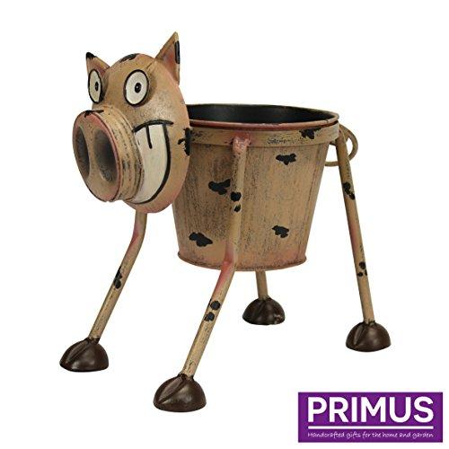 Primus – Pot de fleurs insolite en métal en forme d'animal peint à la main pour l'intérieur...