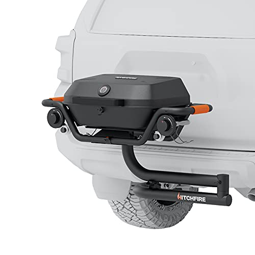 HitchFire Forge 15 Hitch Grill, Portable Grill Propane Grill Tailgate Grill Camping Grill for BBQ, Portable BBQ Grill for Roadtrip, RV Grill Small Grill Portable Gas Grill, Trailer Hitch Mounted Grill