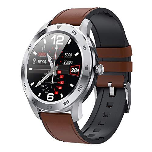 APCHY Reloj Inteligente Smart Watch,Rastreadores De Actividades De Llamada De Bluetooth Círculo Completo,Detección De ECG De Marcación Múltiple, Pedómetro Deportivo Inteligente IP68,Ritmo Cardíaco,C