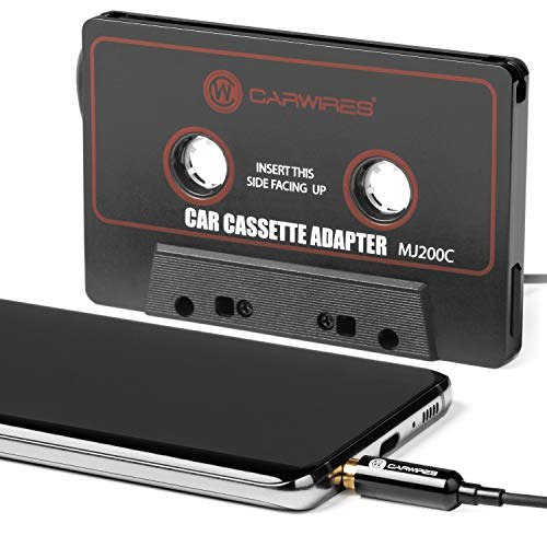 Carwires MJ200C – Premium Car Audio Cassette Adapter with 1M / 3.28FT Audio Cable