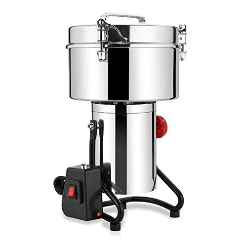 CHENJIA 4500g Capacity Electric Grinder, Stainless Steel Grain Mill, 4500 W High Efficiency Herbal Nut Crusher, Suitable for Household Medicine, Commercial Farm and Pasture