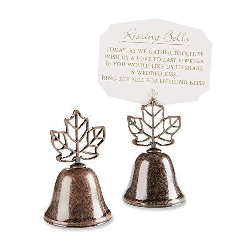 "120 ""Lustrous Leaf"" Kissing Bell Place Card Holder"