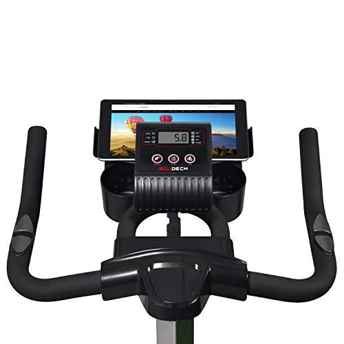 Bici da Spinning con volano da 16kg, display LCD, software di monitoraggio e supporto tablet (BOLD 1600)