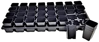 Extra Strength 32 Cell Seedling Starter Trays w/Inserts, 2 Pack, for Seed Germination, Plant Propagation, Soil & Hydroponics, Growing Trays, Planting Starter Plugs by Bootstrap Farmer