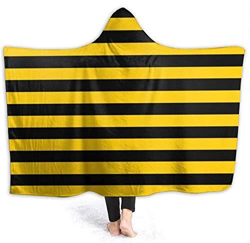 HGGZJUA Manta para sofá cama, manta amarilla y a rayas, para dormitorio, sofá, sala de estar, cálida para viajes, súper mullida, para niños y adultos, para todas las estaciones de 152 x 122 cm