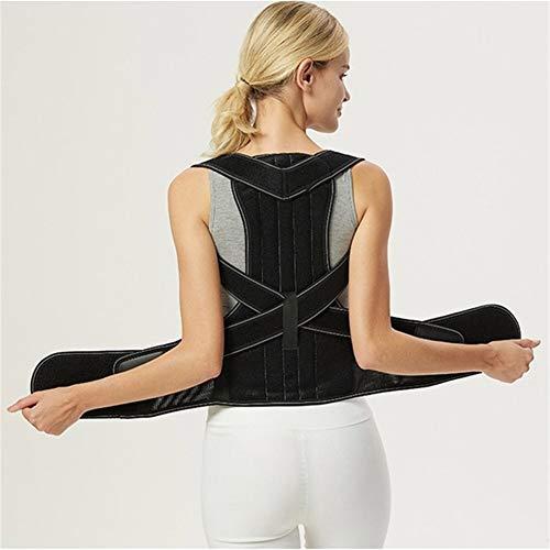 BKMWL Magnetfeldtherapie Taillenschutzzubehör Verstellbarer Erwachsener Rücken mit Frauen & Männern Rücken-Korrekturband mit Stützplatte Kyphose-Korrekturband,S