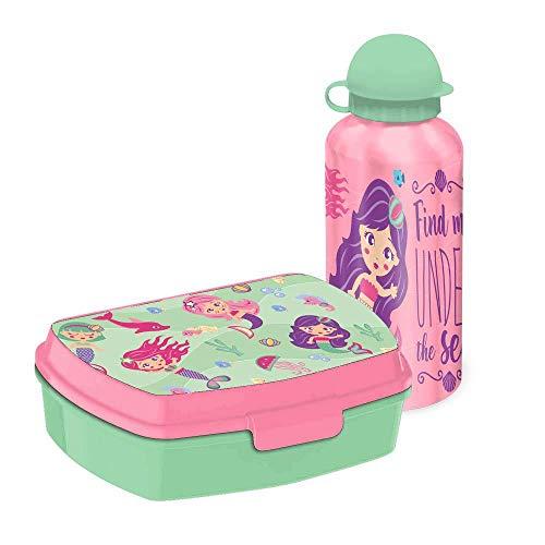 Kids Set Sandwichera Plastico Y Cantimplora Aluminio de...