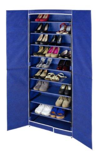 Wenko Armoire à Grand Air pour 30 paires de Chaussures en Bleu/Noir, Autre, Azul