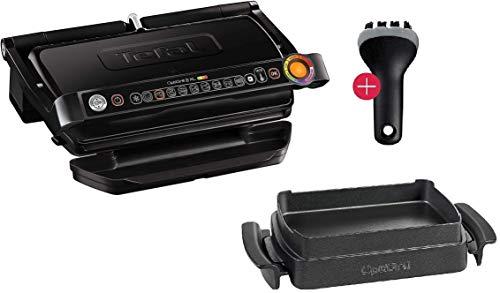 Tefal OptiGrill+ Plus XL-Grillfläche intelligenter Kontaktgrill, 9 Grillprogramme, Ideale Grillergebnisse blutig bis durchgebraten, antihaftversiegelte Aluguss-Platten