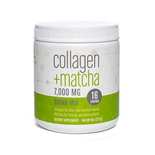 360 Nutrition Matcha Collagen Peptides Powder | 8 oz, 16 Servings | Keto Friendly, Paleo, Non-GMO, Gluten Free | Japanese Green Tea Powder