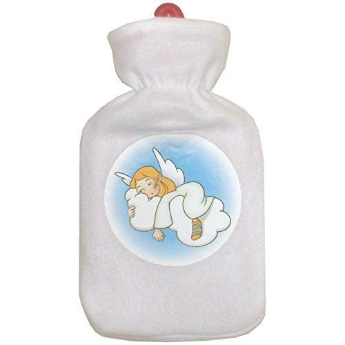 Wärmflasche Schutzengel mit Fleeceüberzug Wärmeflasche Engel Bezug Fleece Wärmekissen (schlafender Engel)