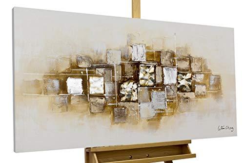 KunstLoft® Acryl Gemälde 'Slick as a Brick' 120x60cm handgemalt Leinwand Bild