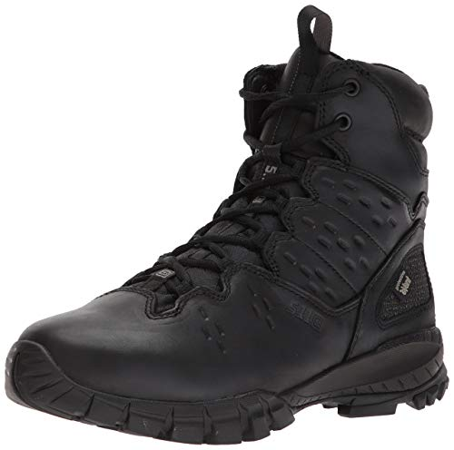 5.11 Tactical Men's XPRT 3.9 Waterproof 6-Inch Boots, Easy Polish, Full Grain Leather, Black, 40.5 EU Wide, Style 12373