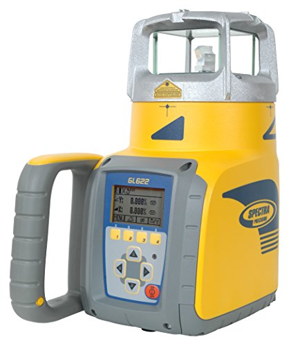 Spectra Precision Dual-Slope Grade Laser Level Kit, Line Measure Receiver Device Tool for Tiling, Construction, Flooring
