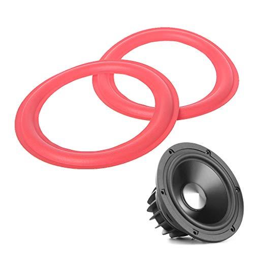 SimpleLife Subwoofer van schuimrubber, reparatie-accessoires voor basluidsprekers, rood, 6,5 inch, 2 stuks