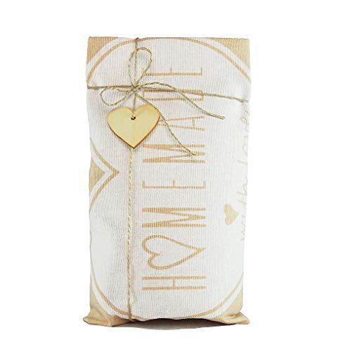 Weihnachtsgeschenkset Geschirrtuch mit Bio-Brotbackmischung, Brot-backmischung Geschenk, Weihnachtsgeschenke Set für Frauen oder Männer, Brot backen Weihnachtsgeschenk