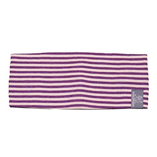 PICKAPOOH Stirnband Bio-Schurwolle/Seide für Kinder und Erwachsene, Lila/Natur Gr. 56