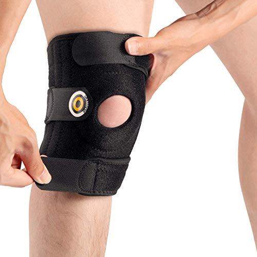 CAMBIVO Kniebandage, Knieschoner, Knieschützer für Damen und Herren, Verstellbare Patella Bandage, Knieorthese für Volleyball, Laufen, Meniskus